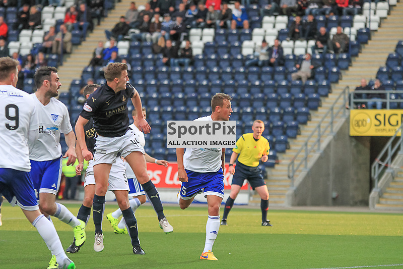 Falkirk V Peterhead PETROFAC TRAINING CUP 18 August 2015;  Falkirk's Paul Watson puts Falkirk 2-0 up during the Falkirk V Peterhead PETROFAC TRAINING CUP match played at The Falkirk Stadium, Falkirk.