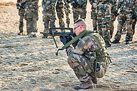 The military medical officers in formation in the CeFOS (Operational academy center for health) in order to have their Certificate of Medicine of Land Forces. They also learn how to handle a weapon.<br /> <br /> Les medecins militaires en formation au CeFOS pour passer leur Brevet de M&eacute;decine des Forces Terrestres apprennent egalement a manier une arme.
