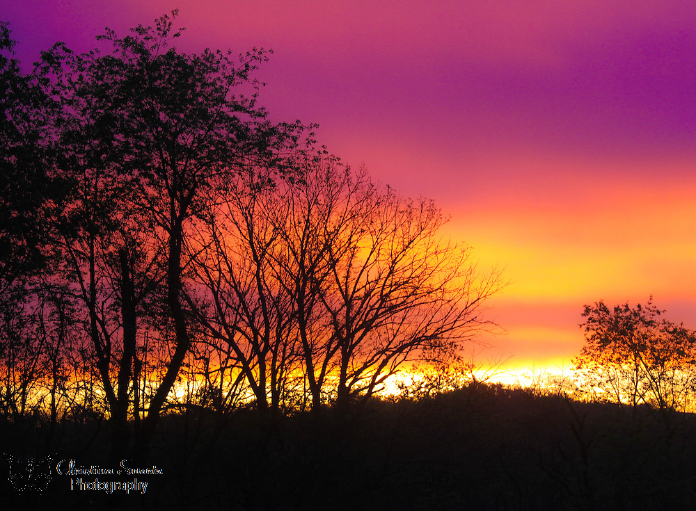Ohio Sunset, Ohio Sunset Purple Orange image for sale