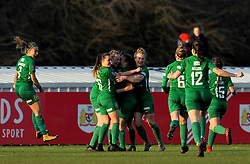 Annie Heatherson of Yeovil Town Ladies celebrates her goal with team mates - Mandatory by-line: Nizaam Jones/JMP - 27/01/2019 - FOOTBALL - Stoke Gifford Stadium - Bristol, England - Bristol City Women v Yeovil Town Ladies- FA Women's Super League 1