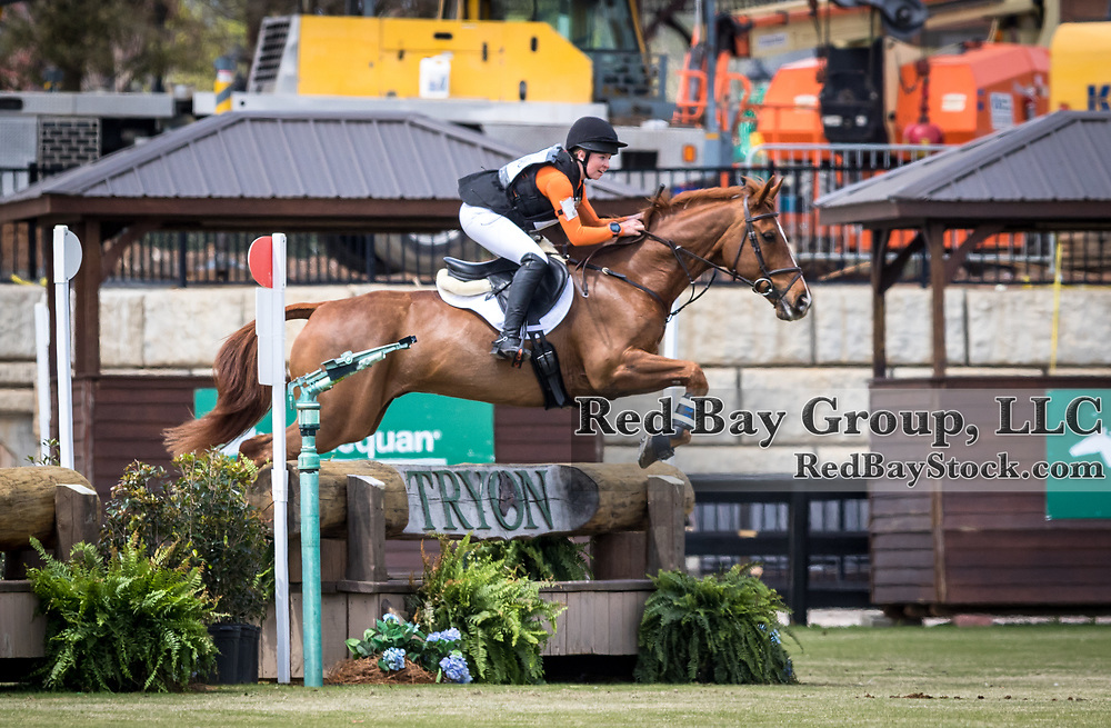 Alexandra Baugh and Ballingowan Pizazz at The Fork Horse Trials at the Tryon International Equestrian Center in Mill Spring, North Carolina.