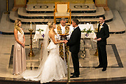 Catholic church wedding by Tallmadge wedding photographer, Mara Robinson, Akron wedding photographer