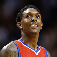 21 January 2012: Philadelphia Sixers point guard Lou Williams (23) smiles during the Miami Heat 113-92 victory over the Philadelphia Sixers at the AmericanAirlines Arena, Miami, Florida, USA.