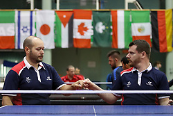 THOMAS Maxime and MERRIEN Florian of France celebrate at 14th Slovenia Open - Thermana Lasko 2017 Table Tennis Championships for the Disabled Factor 4, on May 9, 2017, in Dvorana Tri Lilije, Lasko, Slovenia. Photo by Matic Klansek Velej / Sportida