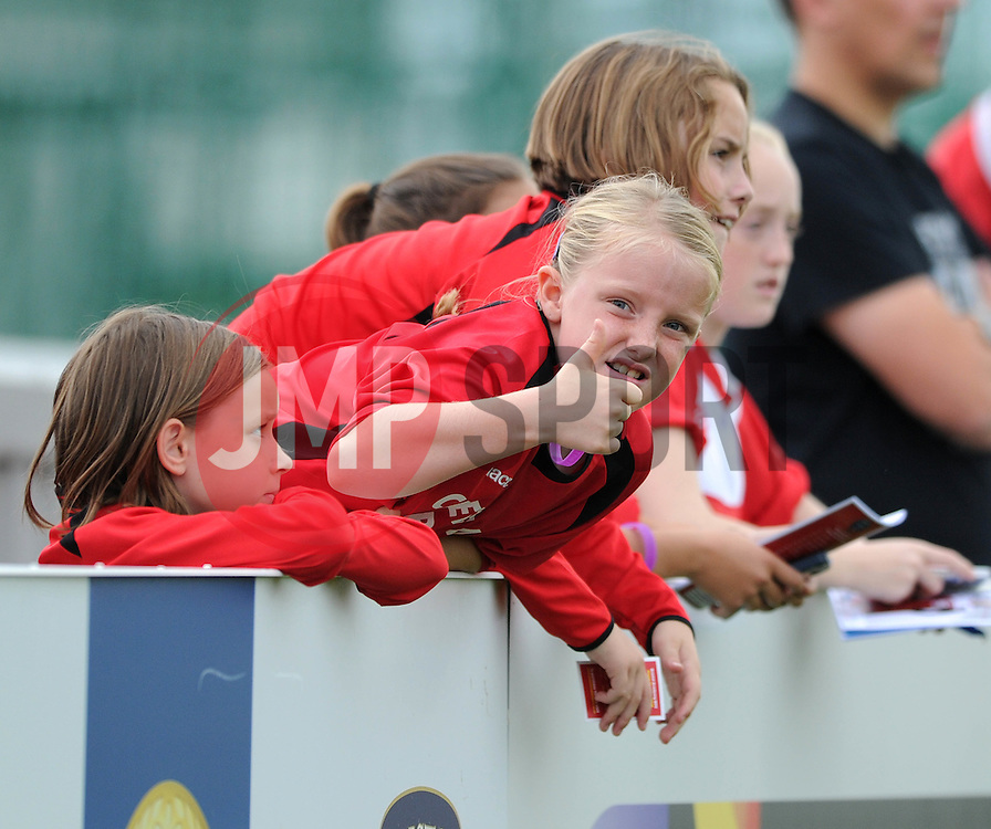 Bristol Academy fans - Photo mandatory by-line: Dougie Allward/JMP - Mobile: 07966 386802 - 28/09/2014 - SPORT - Women's Football - Bristol - SGS Wise Campus - Bristol Academy Women's v Manchester City Women's - Women's Super League