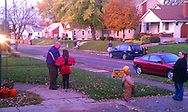 Trick or Treating in Dayton's Belmont neighborhood, Monday, October 31, 2011.