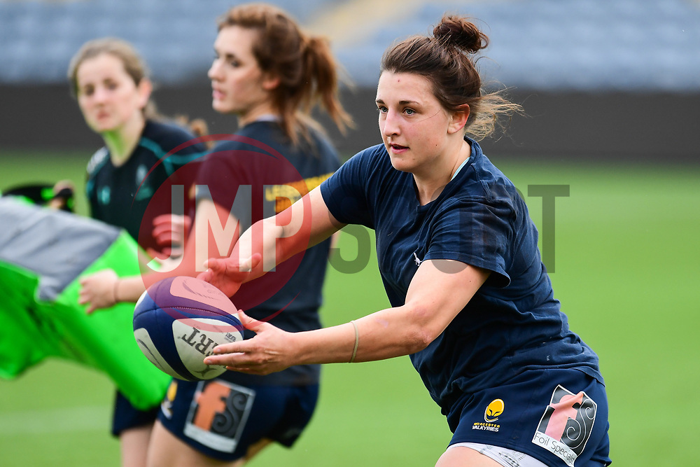 Zoe Bennion of Worcester Valkyries  during the pre match warm up - Mandatory by-line: Craig Thomas/JMP - 30/09/2017 - RUGBY - Sixways Stadium - Worcester, England - Worcester Valkyries v Saracens Women - Tyrrells Premier 15s