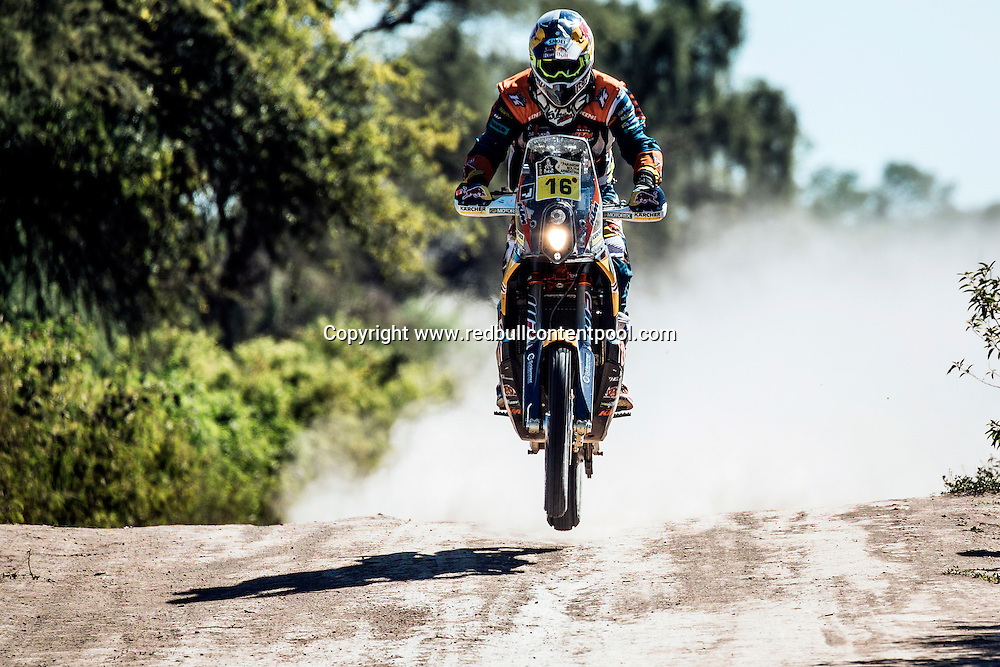 Matthias Walkner (AUT) of Red Bull KTM Factory Team races during stage 2 of Rally Dakar 2017 from Resistencia to San Miguel de Tucuman, Argentina on January 3, 2017. // Flavien Duhamel/Red Bull Content Pool // P-20170103-00349 // Usage for editorial use only // Please go to www.redbullcontentpool.com for further information. //