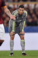FUSSBALL CHAMPIONS LEAGUE  SAISON 2015/2016 ACHTELFINAL HINSPIEL AS Rom - Real Madrid                 17.02.2016 Cristiano Ronaldo (Real Madrid) nachdenklich
