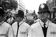 Police Spectating, 3rd Criminal Justice March,  London, 9th of October, 1994