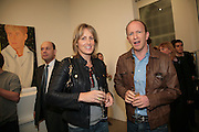 Santa and Simon Sebag-Montefiore, Alex Katz 'One Flight Up' at the new Timothy Taylor Gallery , 15 Carlos Place. London. 11 October 2007. -DO NOT ARCHIVE-© Copyright Photograph by Dafydd Jones. 248 Clapham Rd. London SW9 0PZ. Tel 0207 820 0771. www.dafjones.com.