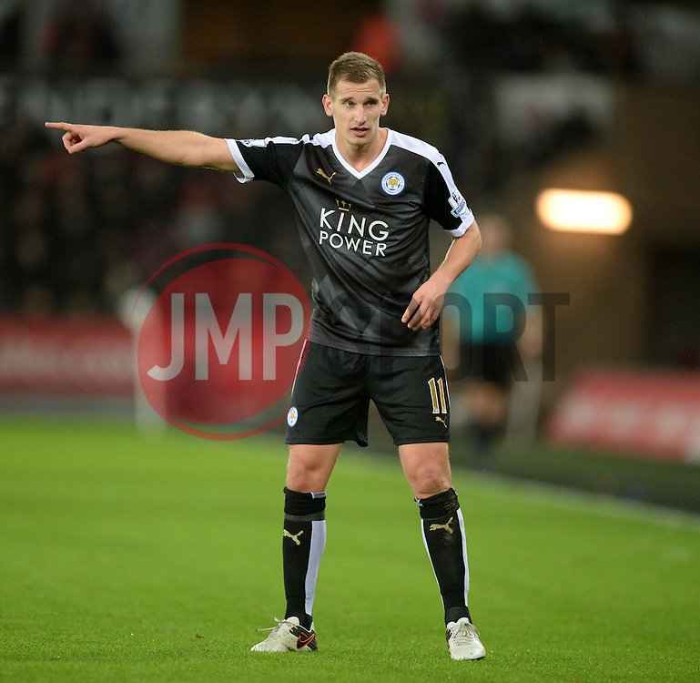 Marc Albrighton of Leicester City - Mandatory byline: Alex James/JMP - 05/12/2015 - Football - Liberty Stadium - Swansea, Wales - Swansea City v Leicester City - Barclays Premier League