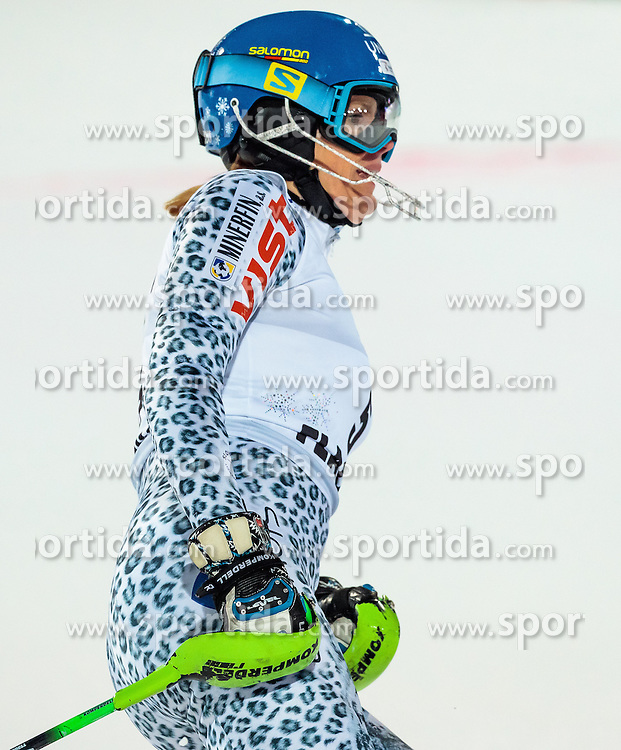 10.01.2017, Hermann Maier Weltcupstrecke, Flachau, AUT, FIS Weltcup Ski Alpin, Flachau, Slalom, Damen, 2. Lauf, im Bild Veronika Velez Zuzulova (SVK) // Veronika Velez Zuzulova of Slovakia reacts after her 2nd run of ladie's Slalom of FIS ski alpine world cup at the Hermann Maier Weltcupstrecke in Flachau, Austria on 2017/01/10. EXPA Pictures © 2017, PhotoCredit: EXPA/ Johann Groder
