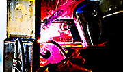 Welding iron for artistic control.
