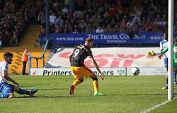 Charlie Wyke of Bradford City (C) scores his sides second goal - Mandatory by-line: Jack Phillips/JMP - 08/04/2017 - FOOTBALL - Gigg Lane - Bury, England - Bury v Bradford City - Football League 1
