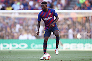 Samuel Umtiti of FC Barcelona during the Joan Gamper trophy game between FC Barcelona and CA Boca Juniors in Camp Nou Stadium at Barcelona, on 15 of August of 2018, Spain, Photo Pressinphoto / Pro Shots / ProSportsImages / DPPI