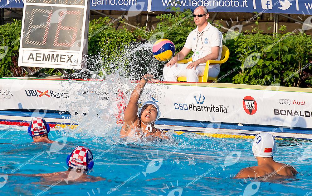 CHN CRO<br /> China CHN (white) - Croatia CRO (blue)<br /> day 03 - 25/06/2015<br /> FINA Water Polo World League Superfinal Men<br /> Bergamo (ITA) 23-28 June 2015<br /> Photo G.Scala/Deepbluemedia