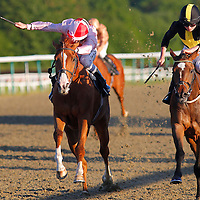 Chesil Beech and Rob Hornby winning the 7.55 race
