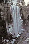 Vernal Falls taken from the bridge in winter.