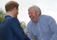 Brendan Foster receives a life time achievement award from Prince Harry . The Virgin Money London Marathon, 23rd April 2017.<br /> <br /> Photo: Jed Leicester for Virgin Money London Marathon<br /> <br /> For further information: media@londonmarathonevents.co.uk