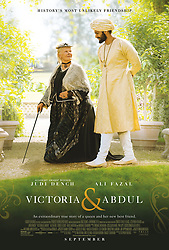 December 11, 2017 - FILE - Golden Globes 2018 Nominees - Nominated for Best Actress, Comedy - RELEASE DATE: September 22, 2017 TITLE: Victoria and Abdul STUDIO: Universal Pictures DIRECTOR: Stephen Frears PLOT: Queen Victoria strikes up an unlikely friendship with a young Indian clerk named Abdul Karim. STARRING: JUDI DENCH as Queen Victoria, ALI FAZAL as Abdul Karim poster art. (Credit Image: © Universal Pictures/Entertainment Pictures/ZUMAPRESS.com)