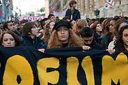 Roma 17 Novembre 2011.Manifestazione degli  studenti medi e universitari, contro il governo Monti