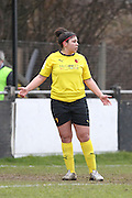 Renee Hector during the Women's FA Cup match between Watford Ladies FC and Brighton Ladies at the Broadwater Stadium, Berkhampstead, United Kingdom on 1 February 2015. Photo by Stuart Butcher.