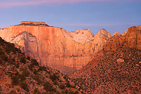 Dawn over the Towers Of The Virgin Zion National Park Utah USA beautiful