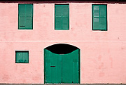 Colorful building facade, St George, Bermuda