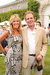 JAMES LINDSAY and SARAH ROBARTS at a luncheon hosted by Cartier for their sponsorship of the Style et Luxe part of the Goodwood Festival of Speed at Goodwood House, West Sussex on 4th July 2010.