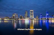 63412-01103 Jacksonville skyline at dusk, Jacksonville, FL