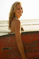 Smiling Blond Surfer