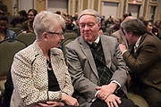 Students, faculty and staff gather in Baker Ballroom on Jan. 24, 2018 for the first OHIO Challenging Dialogues Discussion hosted by President Nellis. Photo by Hannah Ruhoff