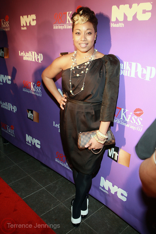 Demetria Lucas at the Celebration for the Finale episode of the VH1 hit reality show ' Let's talk about Pep held at the Comix Club on March 1, 2010 in New York City.