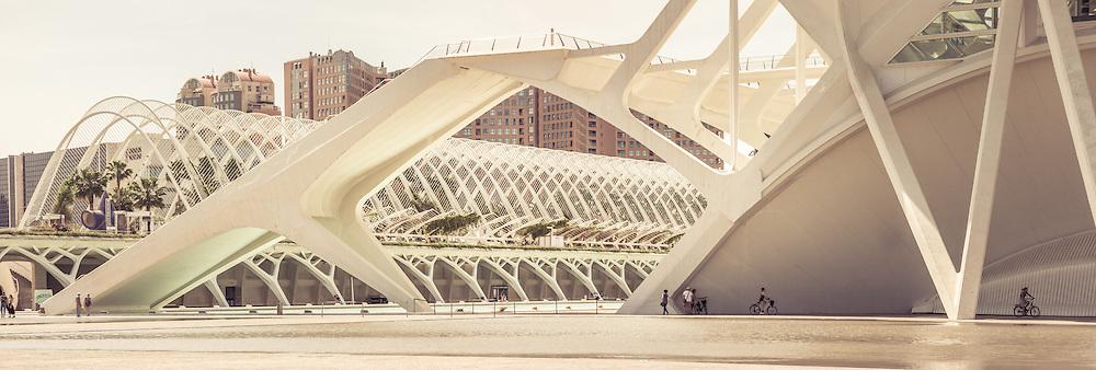 City of Arts and Sciences<br /> Santiago Calatrava Architect<br />  <br /> L'Hemisf&egrave;ric  |  El Museu de les Ci&egrave;ncies Pr&iacute;ncipe Felipe<br /> L'Umbracle  |  Ciudad Ciencias  |  L'&Agrave;gora  |  El Pont de l'Assut de l'Or<br />  <br /> Valencia Spain