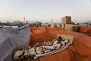 Dubai Creek. Morning at the Dhow Wharfage.