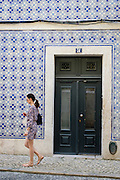 Many of Lisbon's buildings have facades full of azulejo tiles.  This building houses Bertrand Chiado, recognized by the Guinness Book of World Records as the world's oldest bookstore.  It has been in operation since 1732.
