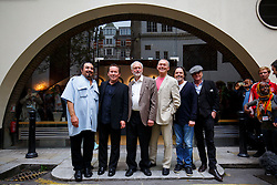 © Licensed to London News Pictures. 06/09/2016. London, UK. Labour leader and leadership candidate JEREMY CORBYN poses with the members of the 80's famous band 'UB40' outside the Royal Society of Arts in London as the band members came out in favour of Jeremy Corbyn and his policies on Tuesday, 6 September 2016. Photo credit: Tolga Akmen/LNP