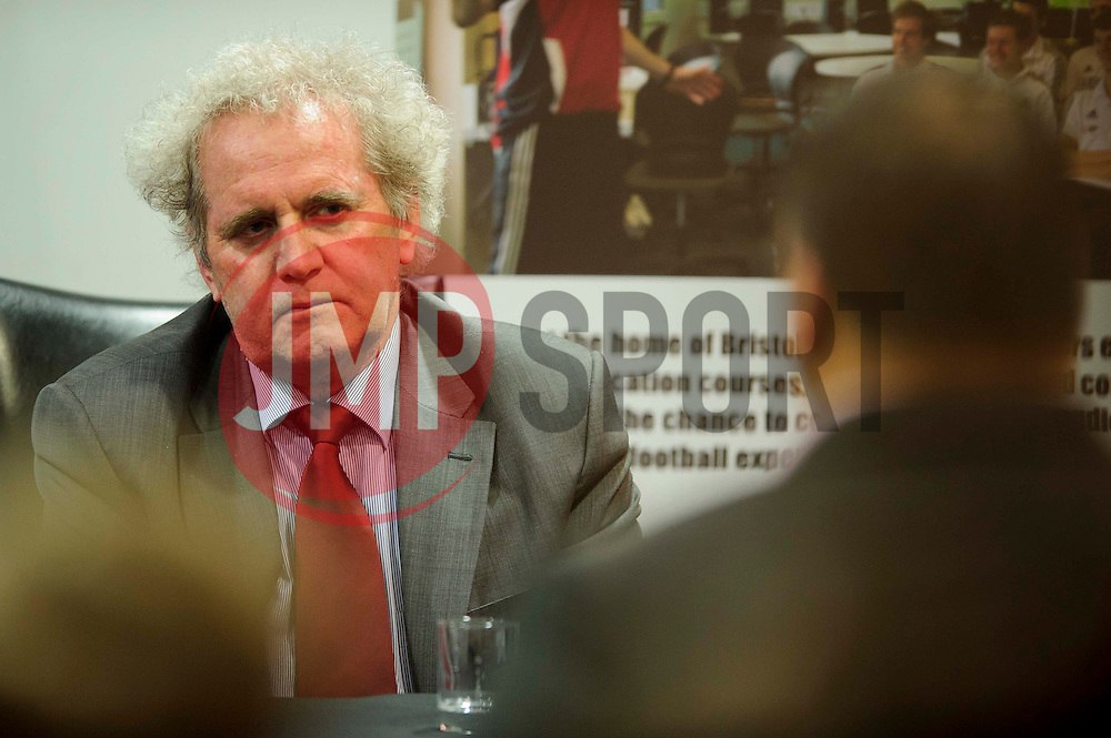 Bristol City Chairman Keith Dawe faces questions from fans during the clubs Annual Supporters Meeting held in the AMC Communications Lounge - Photo mandatory by-line: Rogan Thomson/JMP - Tel: Mobile: 07966 386802 06/12/2012 - SPORT - FOOTBALL - Ashton Gate - Bristol - Club AGM.