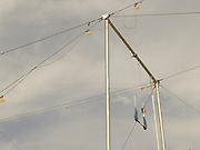 Trapeze swing at rest.