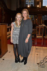 CHLOE COLEMAN and her mother ELLIE COLEMAN at a reception and debate to celebrate the publication of  'Women in Waiting, Prejudice at the the Heart of the Church' by Julia Ogilvy held at St.James's Church, 197 Piccadilly, London on 11th March 2014.