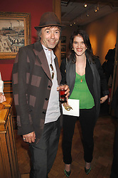 Rare book dealer SIMON FINCH and MINNIE WEISZ at a reception to launch the Knight of Glin's book 'Irish Furniture' and Harry Erne's book 'Freddy Lond Ears' held at Christie's, 8 King Street, London SW1 on 3rd May 2007.<br /><br />NON EXCLUSIVE - WORLD RIGHTS