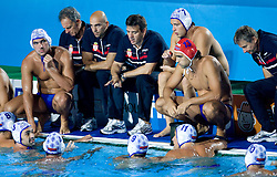Team of Serbia during  the Men's  Waterpolo Final match between National teams of Serbia and Spain during the 13th FINA World Championships Roma 2009, on August 1, 2009, at the Stadio del Nuoto,  in Foro Italico, Rome, Italy. Serbia won after penalties shootout 14:13.  (Photo by Vid Ponikvar / Sportida)