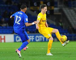 Ben Davies of Preston North End tries to hold off Liam Feeney of Cardiff City - Mandatory by-line: Nizaam Jones/JMP - 29/12/2017 -  FOOTBALL - Cardiff City Stadium - Cardiff, Wales -  Cardiff City v Preston North End - Sky Bet Championship