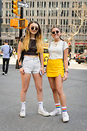 Girls in Sneakers and Socks, Astor Place, April 2018
