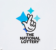 Close up of The national Lottery sign, UK