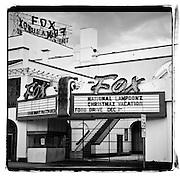 Square version of Fox Fullerton from Harbor Blvd. in Fullerton, CA.