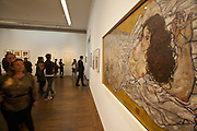 "Vienna. MuseumsQuartier (MQ Vienna) is celebrating its 10th year. Leopold Museum, opening of the exhibition ""Melancholy and Provocation: The Egon Schiele project""."