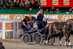EXELL Boyd (AUS), FERCH Heino (Scvhauspieler)<br /> Leipzig - Partner Pferd 2020<br /> Siegerehrung<br /> TRAVEL CHARME Hotels & Resorts Trophy <br /> FEI Driving World Cup™<br /> FEI World Cup Qualifikation der Vierspänner<br /> Zeithindernisfahren für Vierspänner, international<br /> 19. Januar 2020<br /> © www.sportfotos-lafrentz.de/Stefan Lafrentz