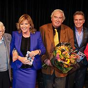 NLD/Hilversum/20121003- Boekpresentatie De Iconen van het NOS Achtuurjournaal, Frits Thors, Pia Dijkstra, Joop van Zijl, Rob Trip, Eugenie Herlaar
